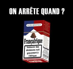 'When will we quit?' - Anti-Françafrique poster